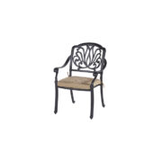 AMALFI DINING CHAIR BRONZE CAST ALU