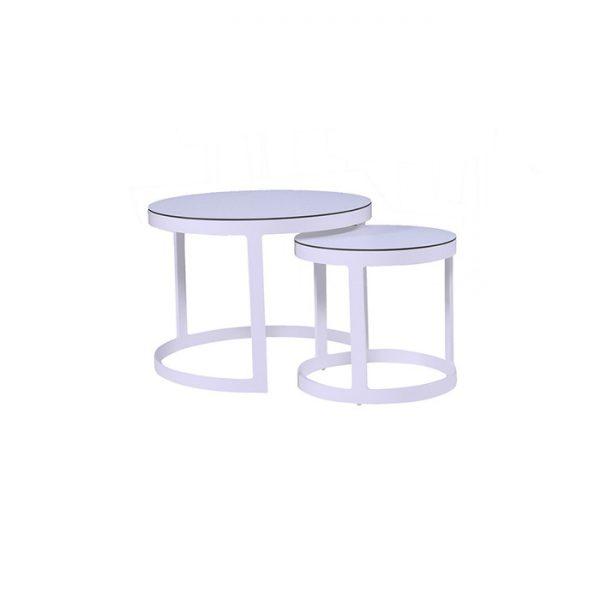 BIARRITZ COFFEE TABLE 45 PLUS 66CM WHITE