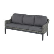 CAIRO 3 SEATER SOFA SILVER GREY