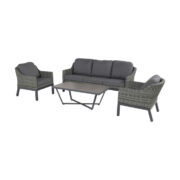 CAIRO LOUNGE SET SILVER GREY