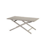 CANNES ADJUSTABLE COFFEE TABLE SEAL GREY