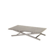 CANNES ADJUSTABLE COFFEE TABLE SEAL GREY 2