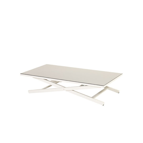 CANNES ADJUSTABLE COFFEE TABLE WHITE