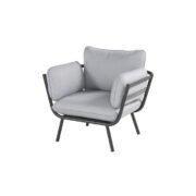 CATALONIA LOUNGE CHAIR CHARCOAL ROPE