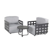 CESTELLI LOUNGE CHAIRS 2 CHARCOAL