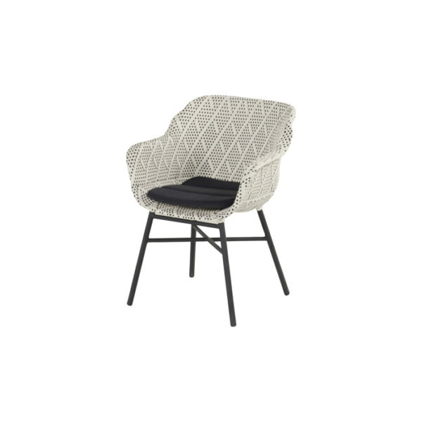 DELPHINE DINING CHAIR DIAMOND GREY