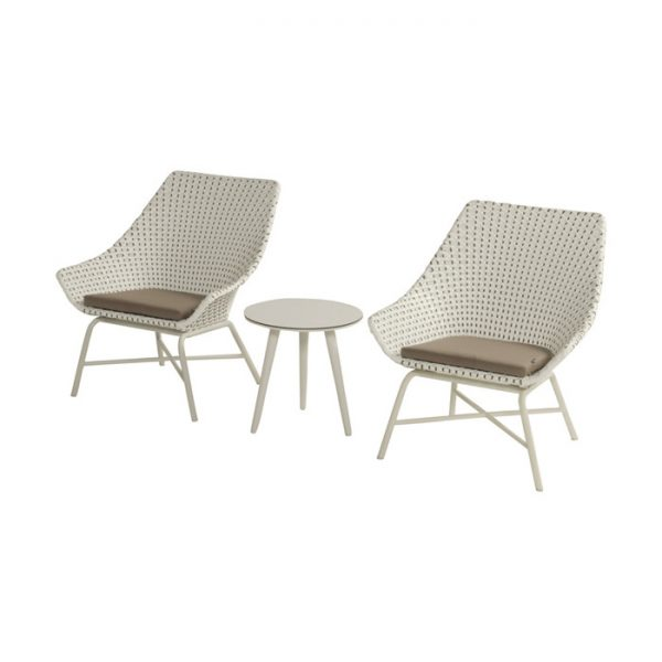 DELPHINE LOUNGE CHAIR MOCCACINO 2 PCS