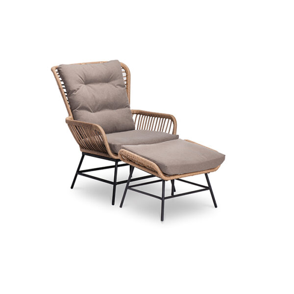 DEX LOUNGE CHAIR WITH FOOTSTOOL ΒΑΜΒΟΟ