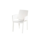 EVELYN STACKING CHAIR WHITE