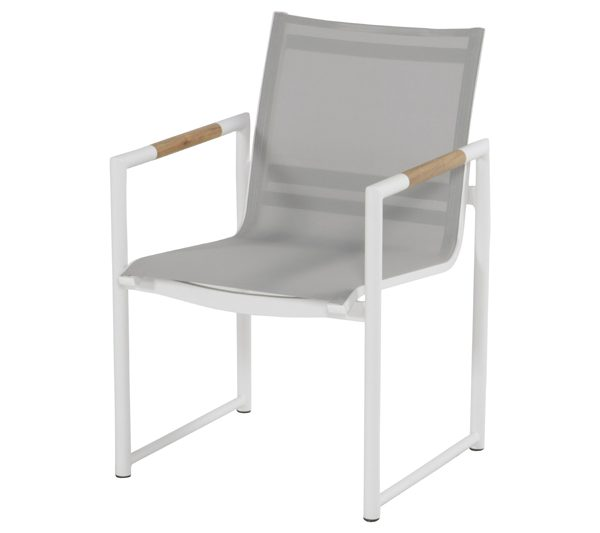 FONTAINE DINING CHAIR WHITE ALU