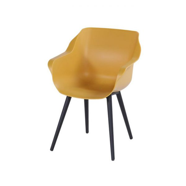 SOPHIE STUDIO CHAIR BLACK WITH YELLOW