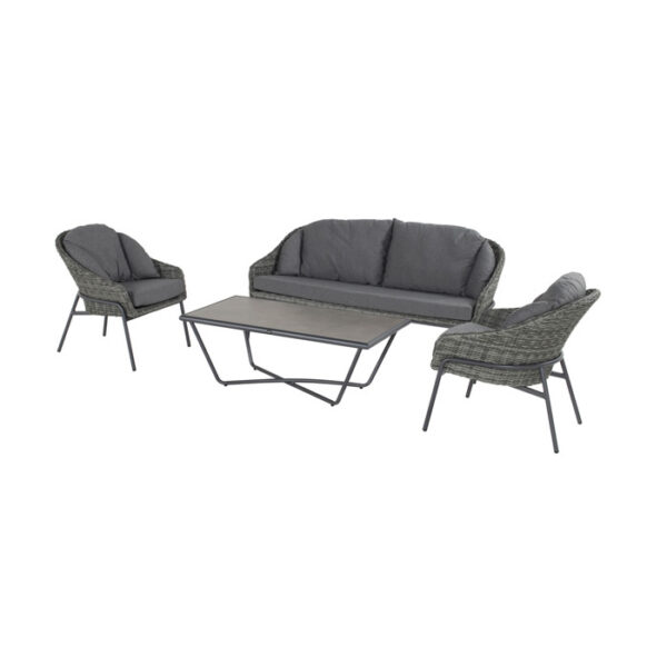 TRENTINO LOUNGE SET SILVER GREY