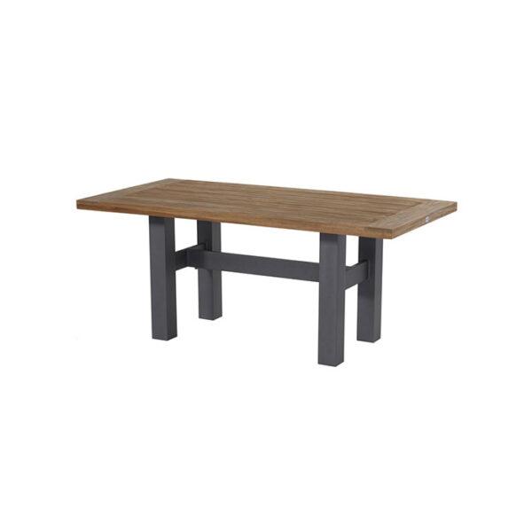 YASMANI-TABLE-180X90CM-ALU-XERIX–TEAK-TOP
