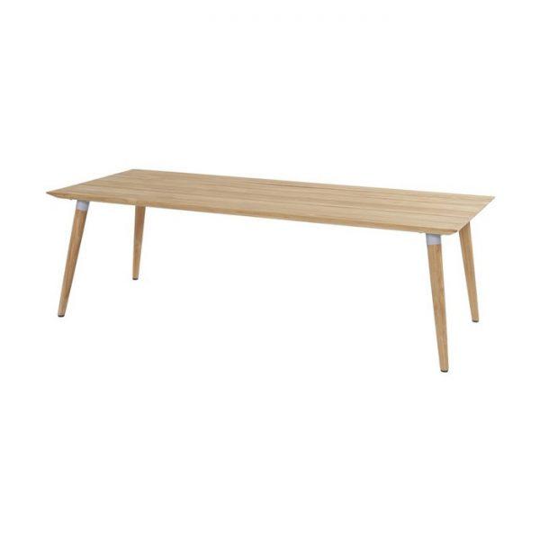 sophie table 240x100cm teak misty grey